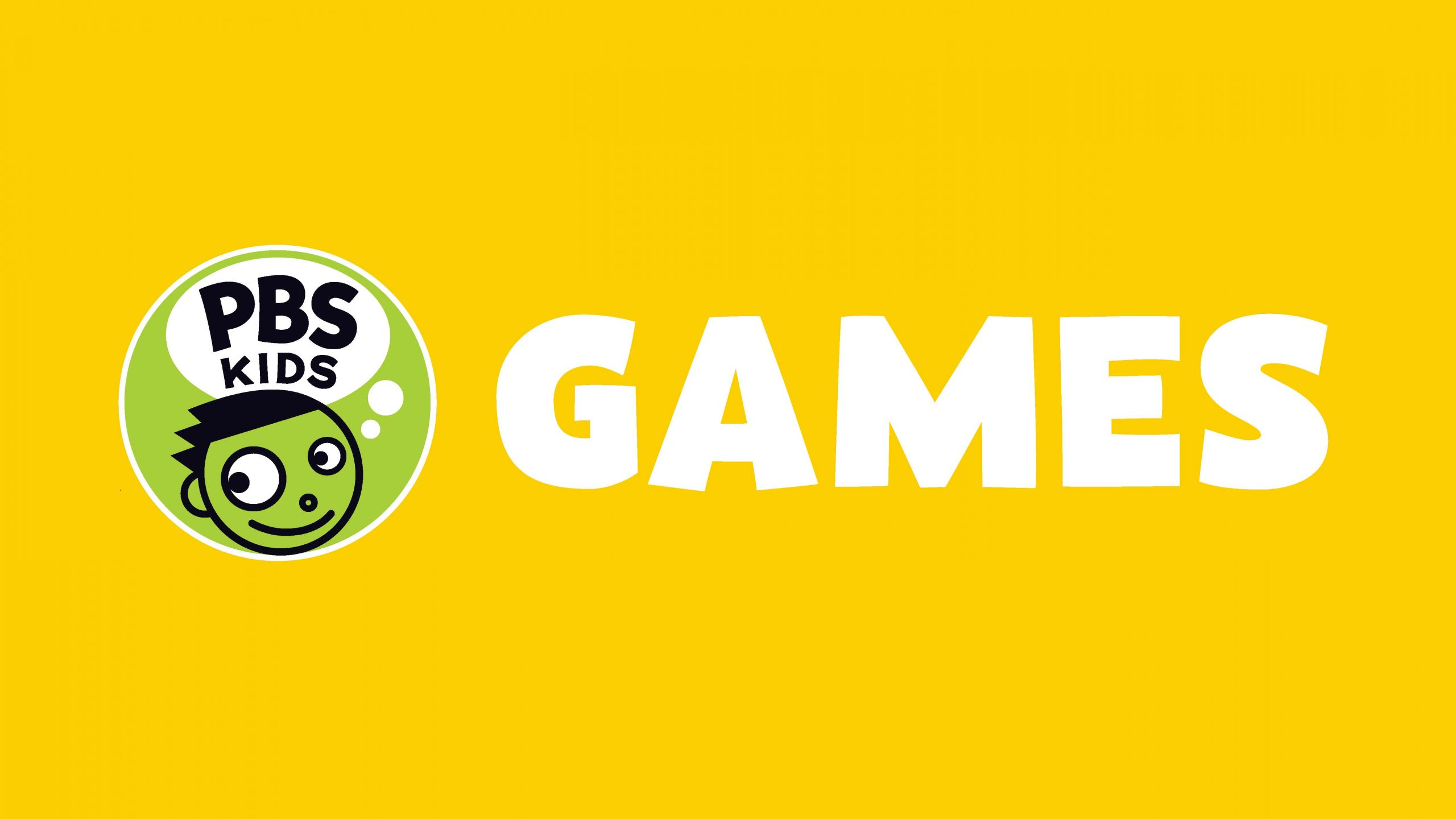 PBS KIDS logo with the word GAMES on a yellow background.