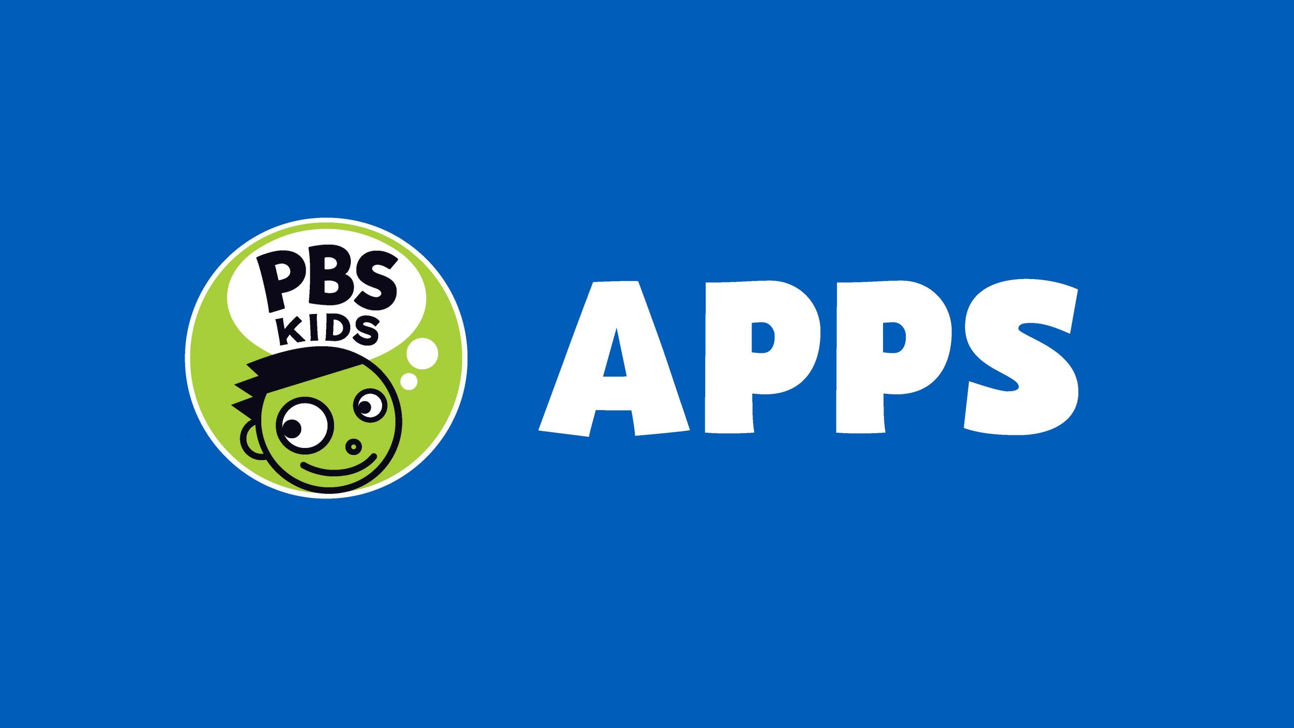 PBS KIDS logo with the word APPS on a blue background.