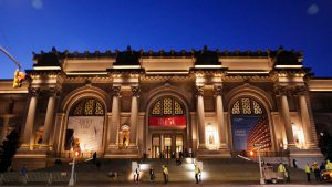 The Met Museum, New York, as the Wangechi Mutu's sculptures are installed.