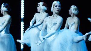 Dancers from Les Ballets Trockadero de Monte Carlo performing Swan Lake