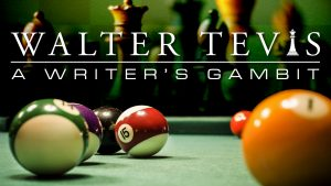 The program logo laid over a collaged image of billiard balls on a pool table and chess pieces.