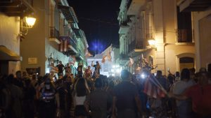 Nightly anti-government protests in Puerto Rico, Summer 2019.