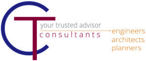 """CT Consultants logo and the words """"your trusted advisor""""."""
