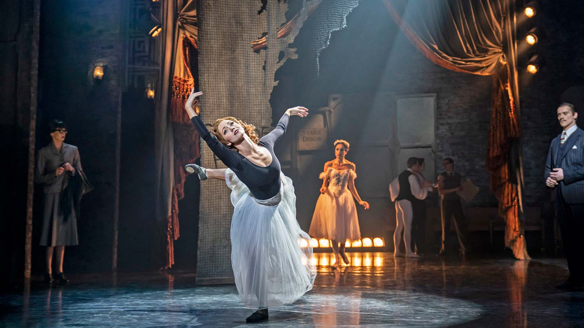 Victoria Page (Ashley Shaw) performing on stage in the ballet The Red Shoes