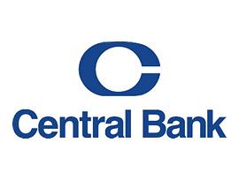 Central Bank logo in blue