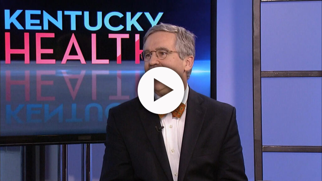 Dr. Wesley McConnell on the Kentucky Health set.