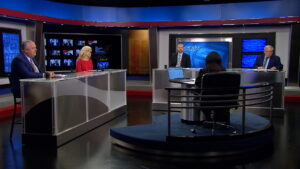 Renee Shaw and guests discuss school choice on the set of Kentucky Tonight.